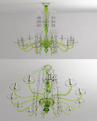 The fashion crystal chandeliers 3D models