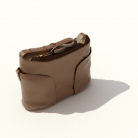 3d model brown shoulder bag lady