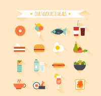 16 of the fresh food icon vector material
