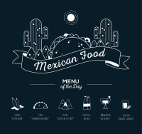 Creative Mexican food menu Vector
