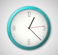 Beautifully simple blue clock vector material
